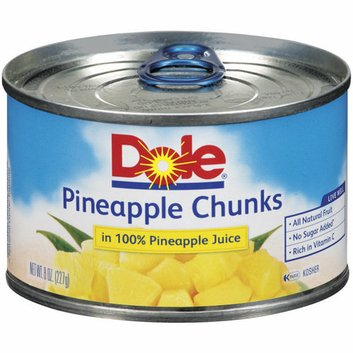 Dole Canned Fruit: Chunks In Its Own Juice Pineapple
