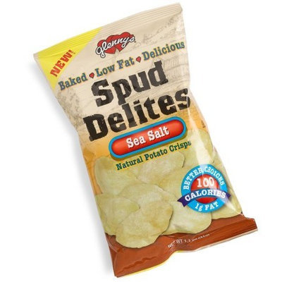 Glenny's Spud Delites, Sea Salt Potato Chips, 1.1-Ounce Bags (Pack of 24)