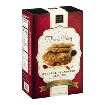 Salem Baking Co. Delightfully Thin & Crispy Cookies Oatmeal Cranberry Almond