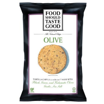 Foodshouldtastegood Food Should Taste Good Chips, Olive, 5.5 Ounce (Pack of 12)