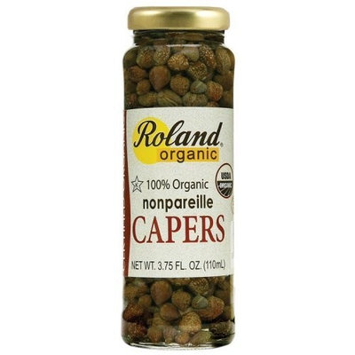 Roland Organic Nonpareil Capers, 3.75-Ounce Glass Jars (Pack of 12)