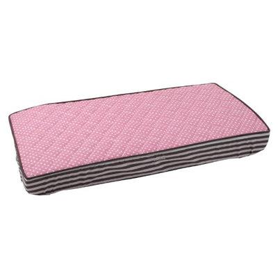 Bacati Pin Dots Changing Pad Cover, Elephant Pink/Grey