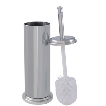 Ldr Industries Inc Exquisite Toilet Brush and Canister Chrome Finish