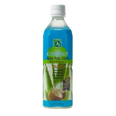 J1 Aloe Pulp Juice with Vitamin C Coconut, 16.9-Ounce (Pack of 12)