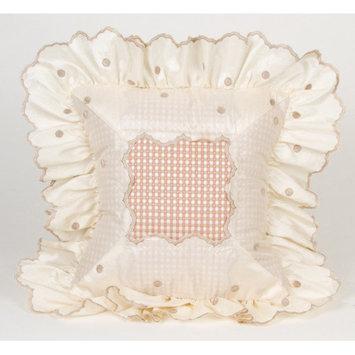 Glenna Jean Madison Dot Pillow with Ruffle