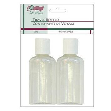 Le Salon Travel Bottles 2 Clear 85ml Liquid Containers