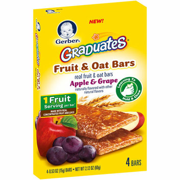 Gerber® Graduates Apple & Grape Fruit & Oat Bars
