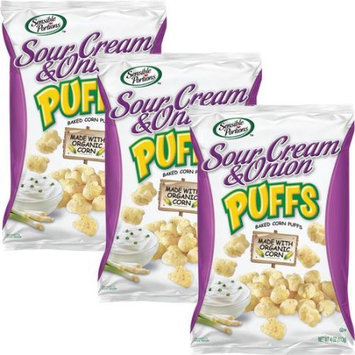 Sensible Portions Sour Cream & Onion Puffs Baked Corn Puffs, 4 oz