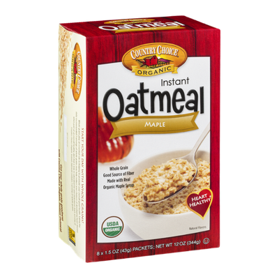 Country Choice Organic Instant Oatmeal Maple - 8 CT