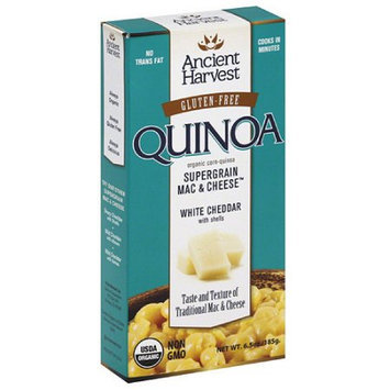 Ancient Harvest Gluten-Free Quinoa White Cheddar Supergrain Mac & Cheese with Shells, 6.5 oz, (Pack of 12)