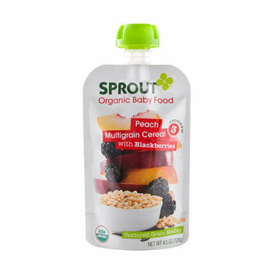 Sprout Peach Multigrain Cereal with Blackberries Organic Baby Food