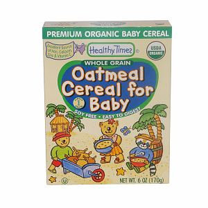 Healthy Times Whole Grain Organic Oatmeal Cereal for Baby