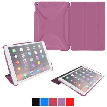 iPad Air 2 Case - roocase Optigon 3D iPad Air 2 2014 Slim Shell Case Smart Cover for Apple iPad Air 2 (2014) 6th Generation Latest Model, Purple