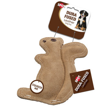 Ethical Products Inc SPOT Dura-Fused Leather Squirrel Dog Toy