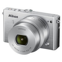 Nikon J4 18.4 MP Digital Camera with NIKKOR 10-30mm Lens - Silver