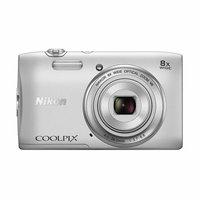 Nikon S3600 20MP Digital Camera with 8X Optical Zoom - Black