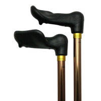 Harvy Unisex Adjustable Palm Grip Cane Bronze Right Hand -Affordable Gift! Item #DHAR-9051103