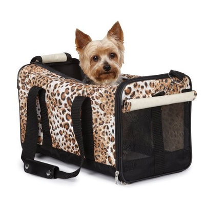 Casual Canine Nylon Animal Print Small Pet Duffle Bag, Cheetah