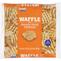 Great Value Waffle Cut French Fried Potatoes, 24 oz
