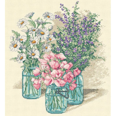 Dimensions Wildflower Trio Counted Cross Stitch Kit