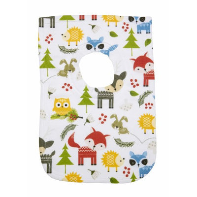 Greatlookz Fashion Greatlookz Animal Envy Cotton Printed Baby Bib, Forest Critters