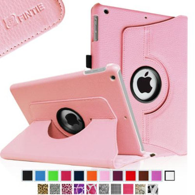 Fintie Rotating Multi-Angle Stand Smart Case Cover for Apple iPad Mini 2 (2013 Edition) & Mini (2012 Edition), Pink