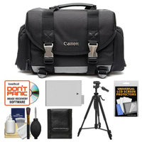 Canon 200DG Digital SLR Camera Case - Gadget Bag with LP-E8 Battery + Tripod + Accessory Kit for Canon Rebel T2i, T3i, & T4i