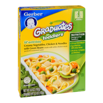 Gerber® Graduates for Toddlers Lil' Entrees Creamy Vegetables, Chicken & Noodles with Green Beans