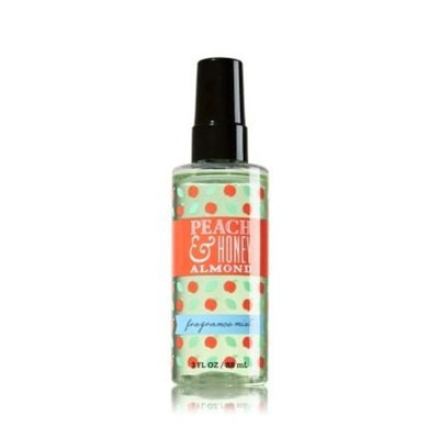Bath & Body Works Peach & Honey Almond Fragrance Mist 3oz Travel Size