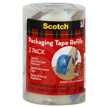 3m 2 Count Refill Packing Tape Rolls