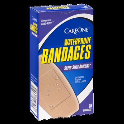 CareOne Waterproof Super Stick Adhesive  Bandages - 10 CT