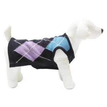 Gooby 01047-BLU-XS Sleeveless Sweater Blue Extra Small