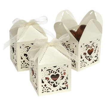 Hortense B. Hewitt Square Die-Cut Favor Boxes - Ivory