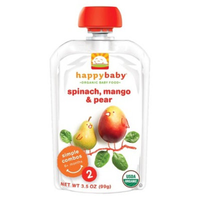Happy Baby Happybaby Organic Baby Food Stage 2 Spinach Mango & Pear 3.5 oz