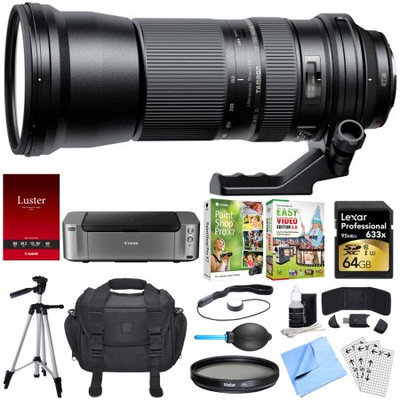 Tamron SP 150-600mm F/5-6.3 Di VC USD Zoom Lens for Canon Dual Mail in Rebate Bundle