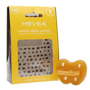 Hevea Natural Rubber Pacifier, 3-36 Months, Crown, 1 ea