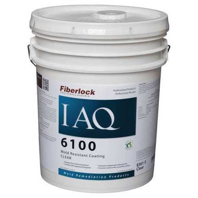 FIBERLOCK TECHNOLOGIES 8361-5 Mold-Resistant Coating,5 gal, Clear