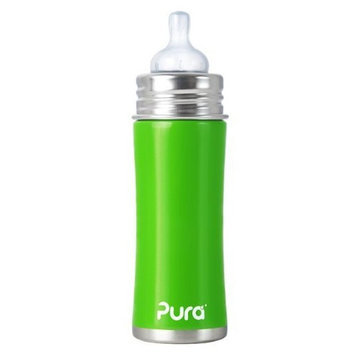 Pura Stainless Kiki Infant Bottle Stainless Steel, 11 Ounce, Spring Green (Discontinued by Manufacturer)