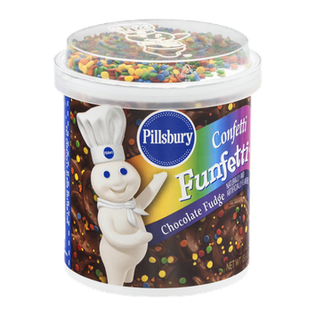 Pillsbury Funfetti Confetti Chocolate Fudge Frosting