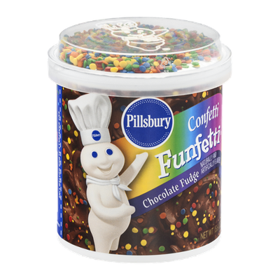 Pillsbury Funfetti Confetti Chocolate Fudge Frosting
