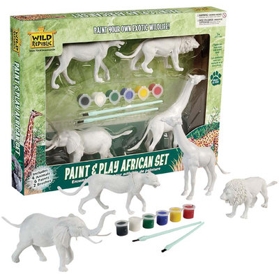 Wild Republic Paint & Play African Animal Set