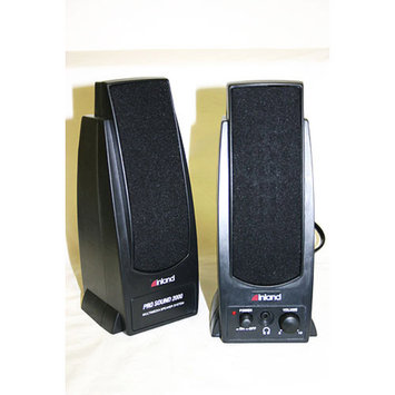 Inland Pro Sound 2000 2-Piece Black Wired Computer Speaker