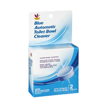 Ahold Blue Automatic Toilet Bowl Cleaner Tablets - 2 CT