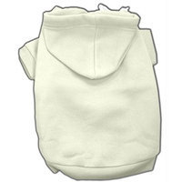 Mirage Pet Products 8-Inch Blank Hoodies, X-Small, Cream