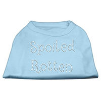 Mirage Pet Products 5275 XXLBBL Spoiled Rotten Rhinestone Shirts Baby Blue XXL 18