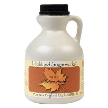 Highland Sugarworks Maple Syrup, Medium Amber, 16-Ounce Jug