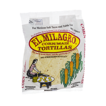 El Milagro Corn Tortillas - 12 CT