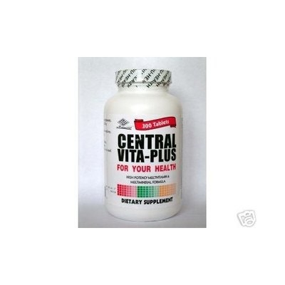 Central Vita-plus 300tabs Central Vita-Plus, High Potency Multivitamin & Multimineral Formula 300 Tablets