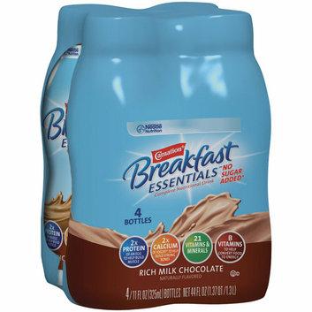 Carnation Breakfast Essentials Rich Milk Chocolate No Sugar Added Complete Nutritional Drinks