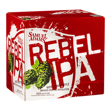 Samuel Adams Rebel IPA West Coast Style Beer - 12 CT